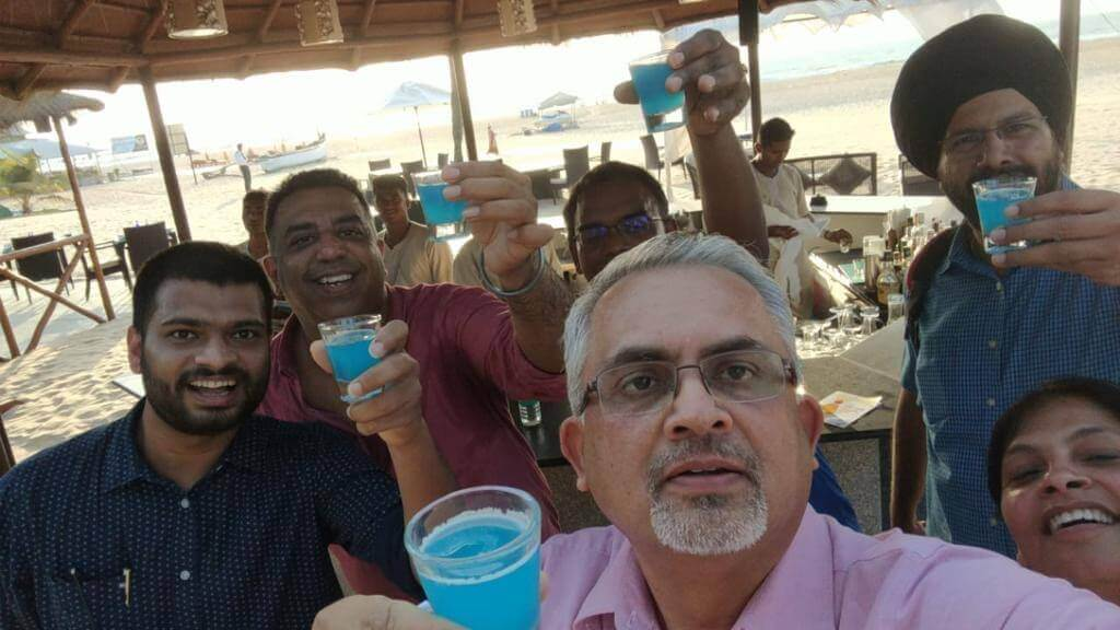 Team CISCO soaks in the Goan vibes